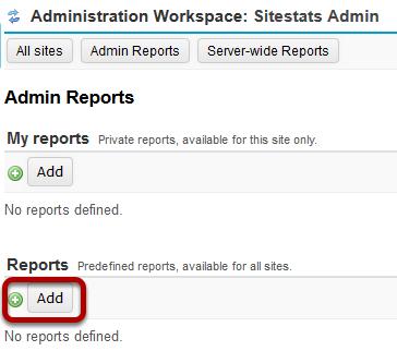 Under Reports, click Add.