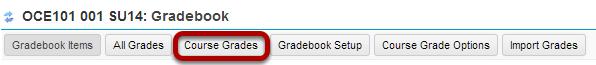 Click Course Grades.