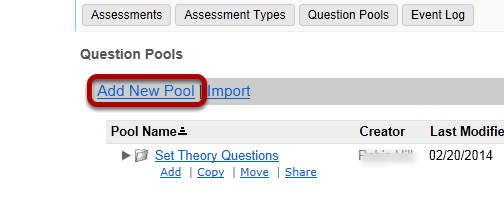 Click Add New Pool.