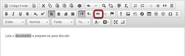 Clicar no ícone Link.