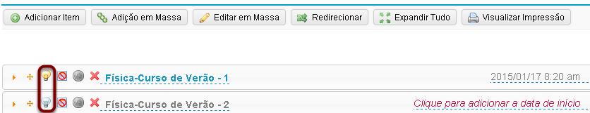 OU manualmente ocultar/liberar o item Conteúdo Programático. (Opcional)