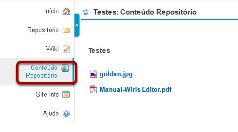 Clicar no botão da nova ferramenta para acessar o conteúdo da pasta.