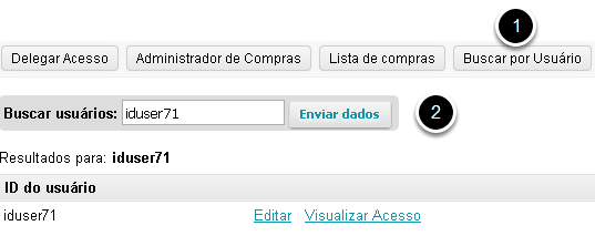Busca por usuário.