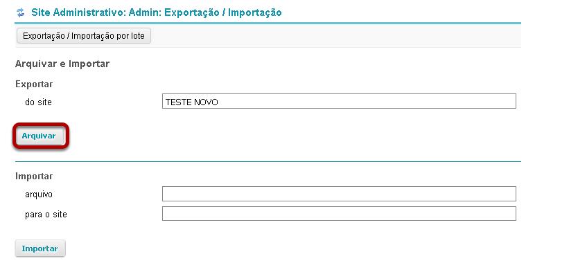 Clique Arquivar.