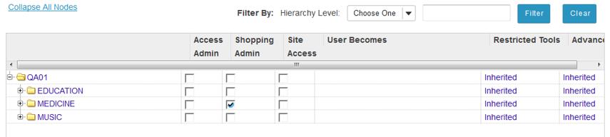 Set shopping admin capability.