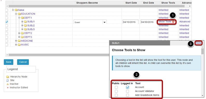 Set tool access