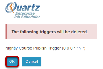 Click OK to confirm the deletion.