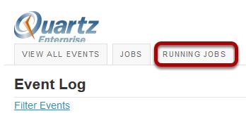 Click the Running Jobs button.