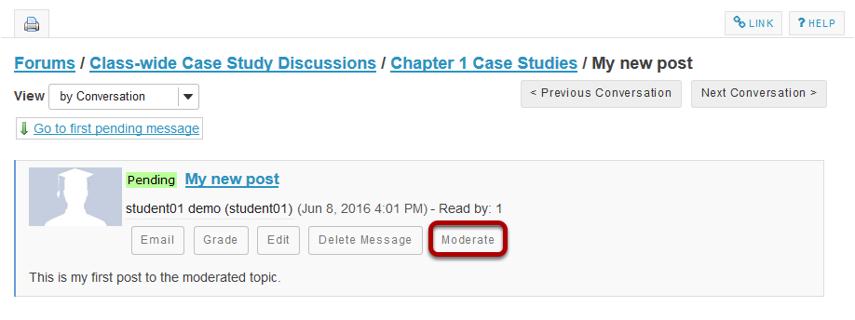 Click Moderate.
