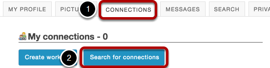 Or, you can also go to Connections to view/search from there.