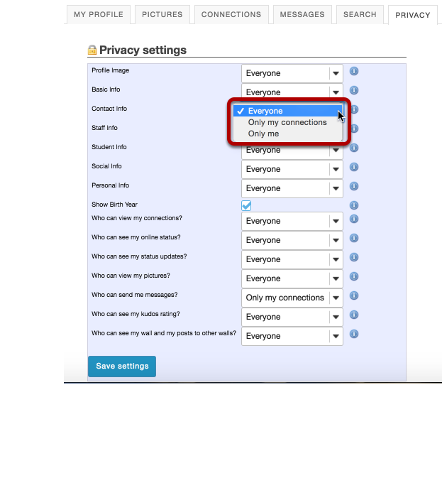 Modify your privacy settings.