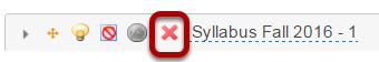 Delete syllabus item.