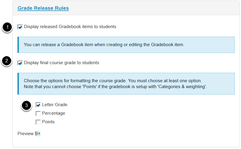 Grade Release Rules.