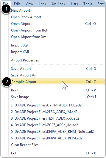 Select Compile Airport