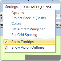 Turning Tool Tips On or Off