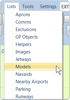 Open the Models List