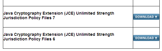 Download Java Cryptography Extension (JCE) Unlimited Strength Jurisdiction Policy Files