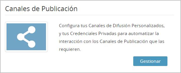"""Entra en """"Canales de publicación"""""""