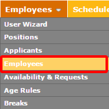 "Go to the ""Employees"" page"