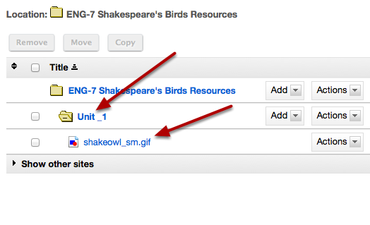 Notice the image file is automatically placed in Resource folder.