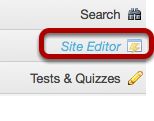 Method #1: Click Site Editor.