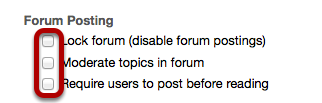 Select forum posting options (optional).