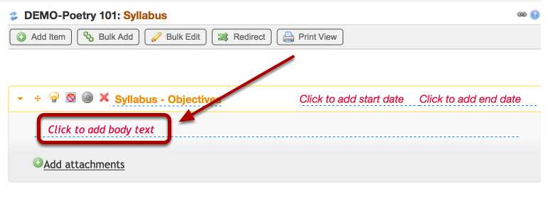 "If you are cutting and pasting from another document, Click ""Click to add body text"""