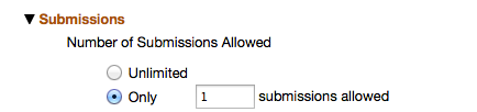 Submissions Section - Number of Submissions.