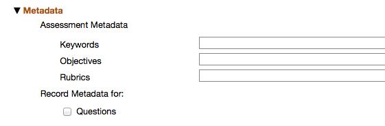 Metadata Section: