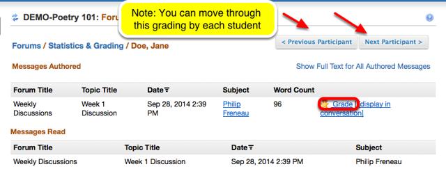 Grading - Click Grade.