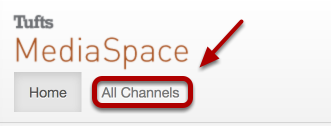 After login, click All Channels