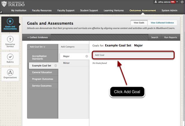 Select the Appropriate Goal Set and Category