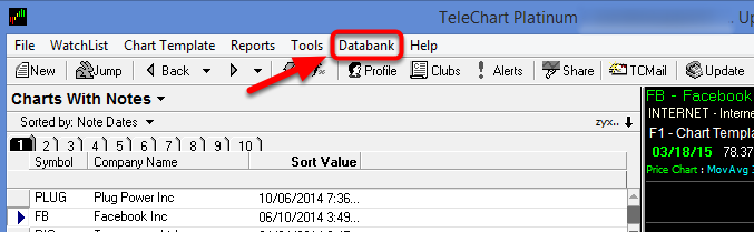 2. Select Databank.