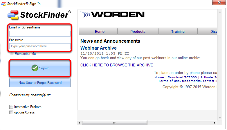 5.  Enter your UserName or E-mail and Password then click Sign-In.