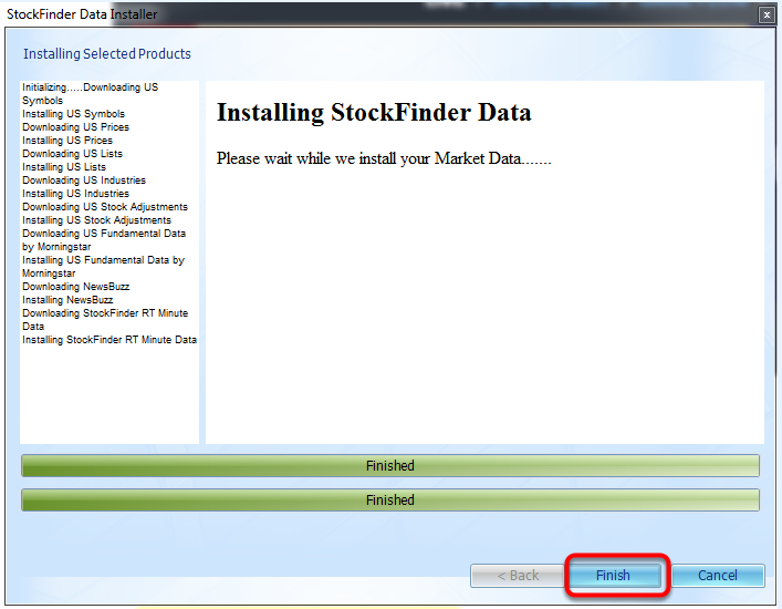 10. Once done installing, click Finish.