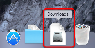 11. Click on the downloads icon in your dock.