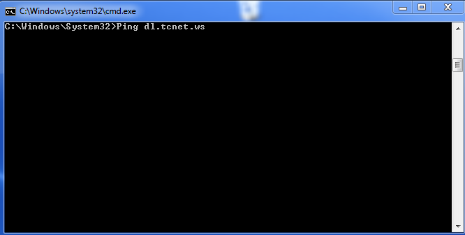 4. In the command prompt type ping then the address of the website you would like to find the IP address for.