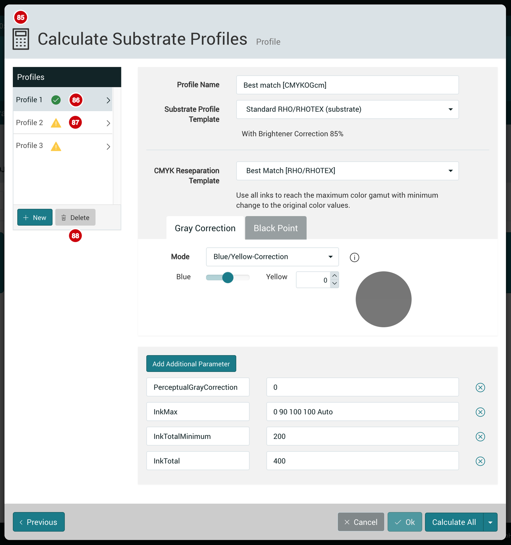 Calculate Substrate Profiles 1.7.2