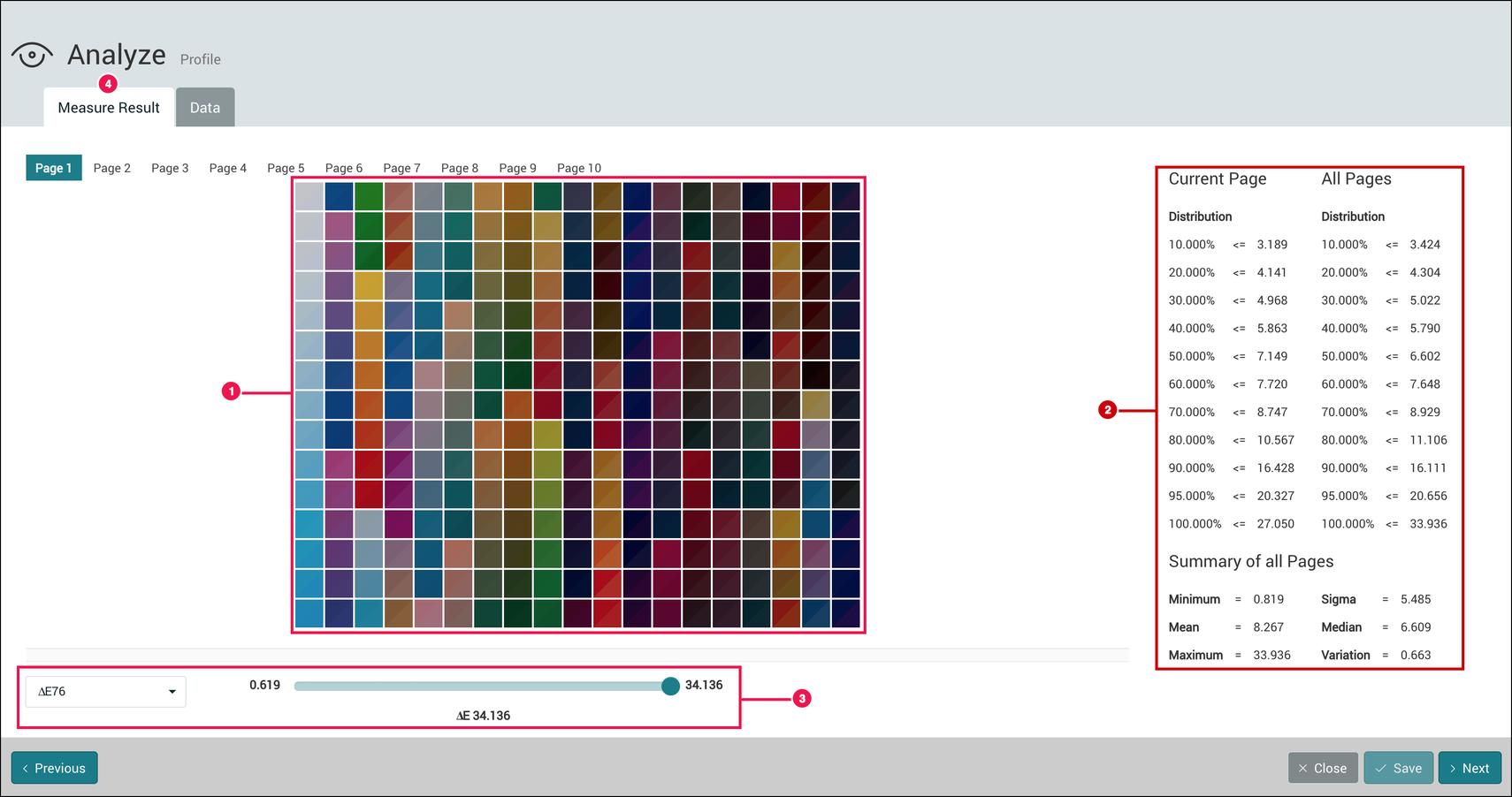 Color Setup  - Anaylze - 1.7.4