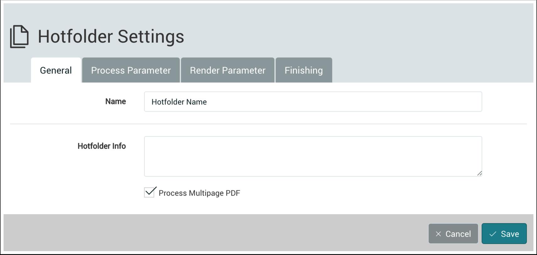 Hotfolder Settings - 1.7.5